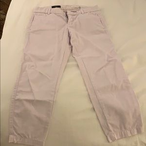 J. Crew Scout cropped lavender chinos, size 2